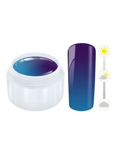 Color effect solar gel blauw